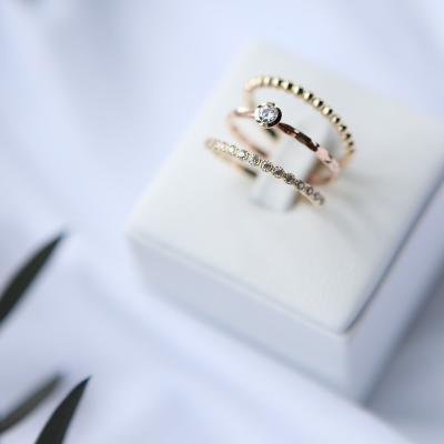 14k 디자인 가드링 레이어드 반지