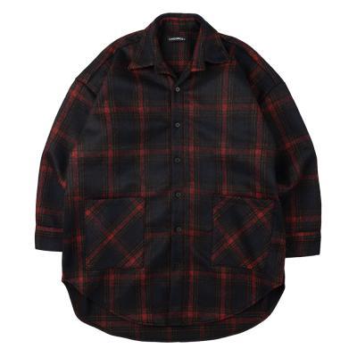 CB 체크 셔츠 자켓 (블랙)