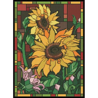 글라스아트 해바라기 (패브릭) 보석십자수 38x52