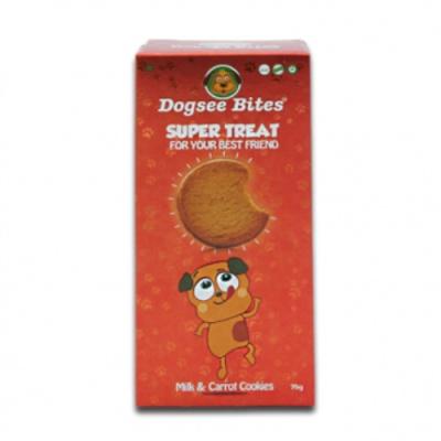 Dogsee Bites 밀크-당근 쿠키 75g (pt)