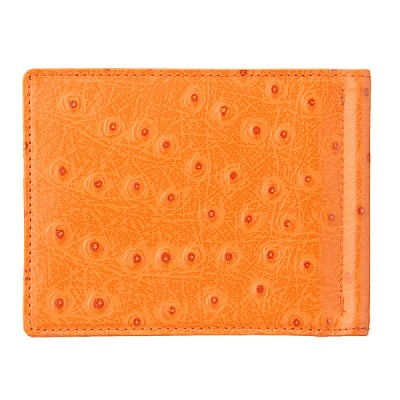 OROM 머니클립 버튼형 (타조) 오렌지 [L965]