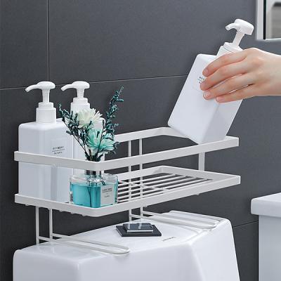 욕실 양변기 공간활용 무타공 스틸 수납선반 B70