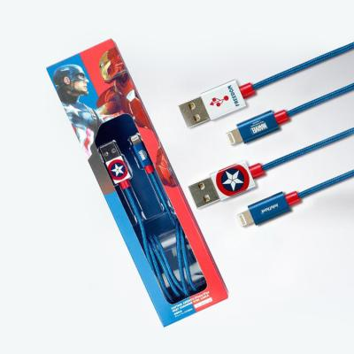 마블 캡틴아메리카 8핀 아이폰 고속충전 케이블