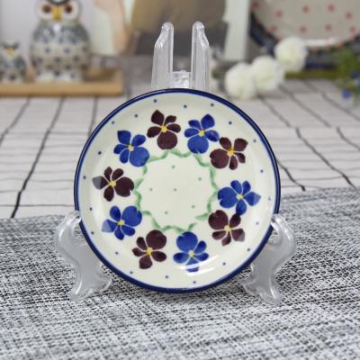폴란드그릇 아티스티나 원형 접시 10cm 패턴 2178