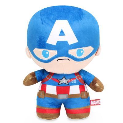 정품 뉴 마블 캡틴 아메리카 스탠딩 봉제인형 25cm