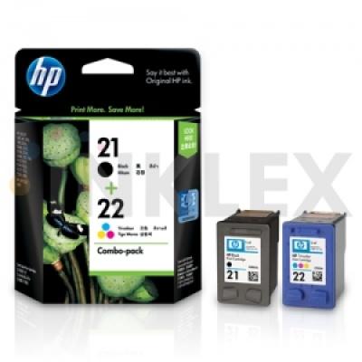 HP 정품잉크 CC630A HP 21/22 Inkjet Combo Pack ( C9351A+C9352A )