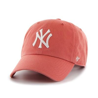 MLB모자 뉴욕 양키즈 아일랜드레드 화이트로고