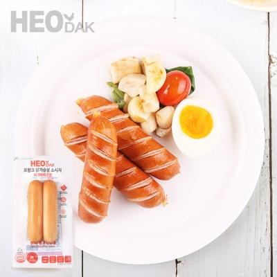 [허닭] 닭가슴살 프랑크 소시지 리얼바베큐맛 120g