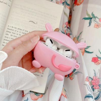 에어팟프로케이스 1 2 3세대 귀여운 핑크카우 실리콘