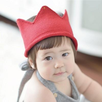 베이비 크라운비니(5color) 유아니트왕관 유아왕관