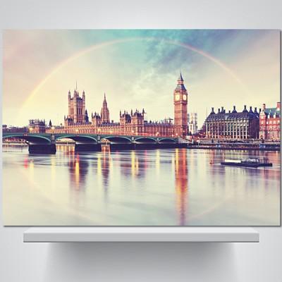 무지개빛 런던 - 감성사진 폼보드 액자
