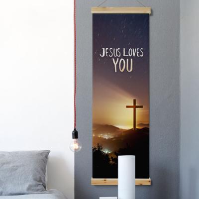 ca424-우드스크롤_40CmX120Cm-예수사랑말씀
