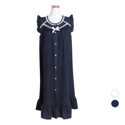 [쿠비카]인견 프릴 원피스 민소매 여성잠옷 W447
