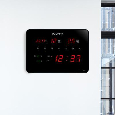 카파 D4200 블랙 고휘도 슈퍼 레드LED 디지털벽시계
