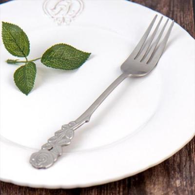 빈티지 테이블 로즈 파스타 포크 1개