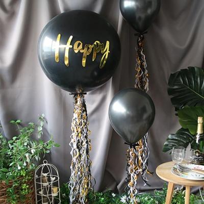 파티 벌룬태슬-블랙