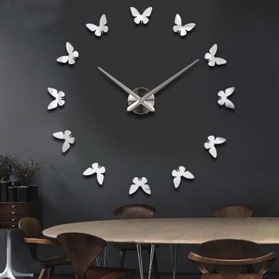 DIY 나비 붙이는 벽시계 (화이트)