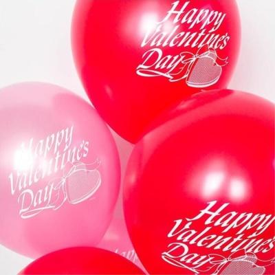 Happy Valentine 발렌타인 풍선 30cm 색상랜덤 10개
