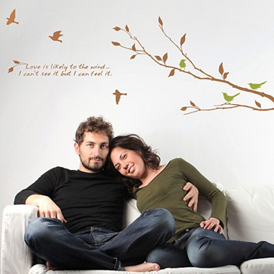 [디자인베이]  바람의향기 (반제품A타입) 그래픽스티커 나무 포인트 시트지