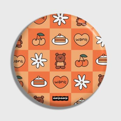 Check kids bear-orange(거울)