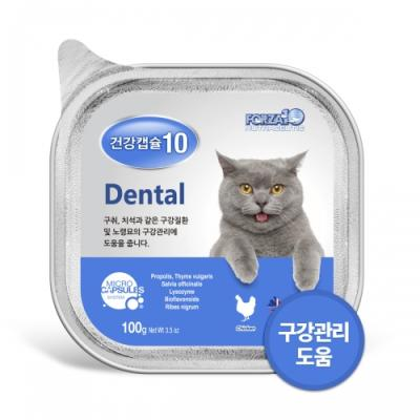 건강캡슐10 구강 dental 100g 고양이 기능성 주식캔