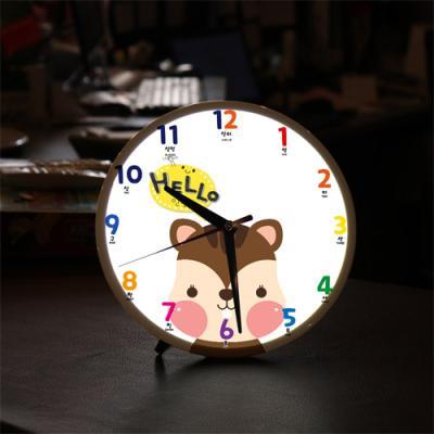 ng090-LED시계액자25R_귀여운동물친구들