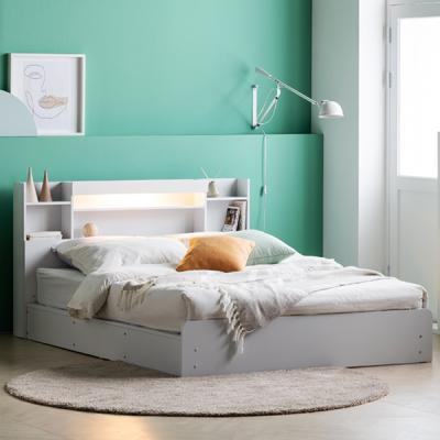 아르메 레이첼 LED 평상형 침대 Q_밸런스 투인스 매트