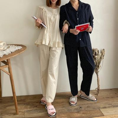 Dot Pajama Set - 커플룩