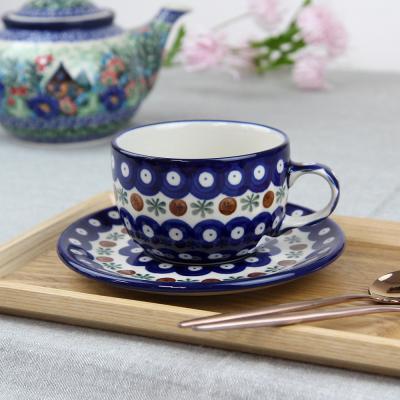 폴란드그릇 아티스티나 티잔&소서세트 200ml 패턴70