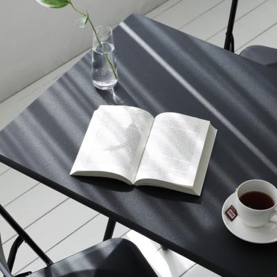 urban-black 접이식 다용도 테이블 - 사각L
