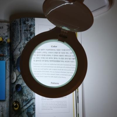 아이클 LED조명확대경 독서확대경 ICLE-8073 3배율