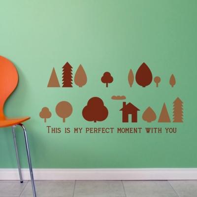 작은숲 (북유럽풍 나무) - 반제품B타입 그래픽스티커