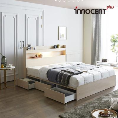 [이노센트] 리브 루아스 LED 멀티수납형 침대 Q/K