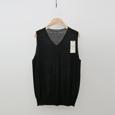 Maille Summer Wool V-Neck Sweater - 민소매