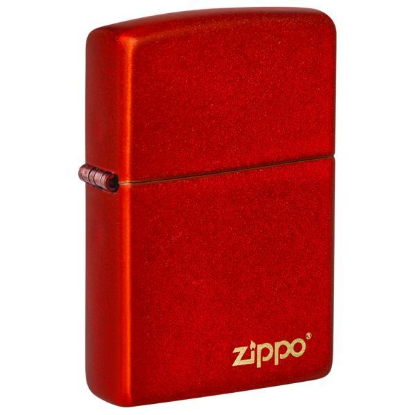 ZIPPO 49475ZL Classic Metallic Red Zippo Logo