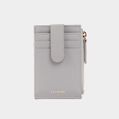 Dijon 201S Flap mini Card Wallet light grey 디종 플랩 라이트그레이