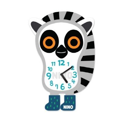 니노타임 아크릴 벽시계 여우원숭이 (소) NTMA-120