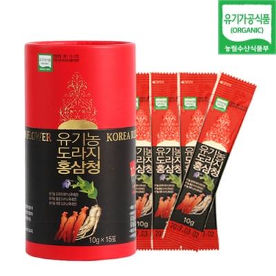 [유기가공인증] 도라지홍삼청 (10gx15개입)x2통
