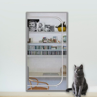 봉봉펫 고양이 안전문 방묘문 방충망 현관 펫도어