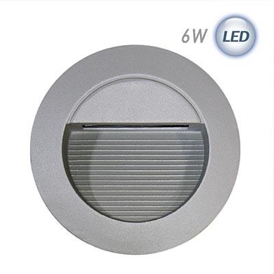 LED 원형 계단매입 6W (그레이)