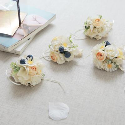 웨딩꽃팔찌 선물세트-블루베리수국(4개set)