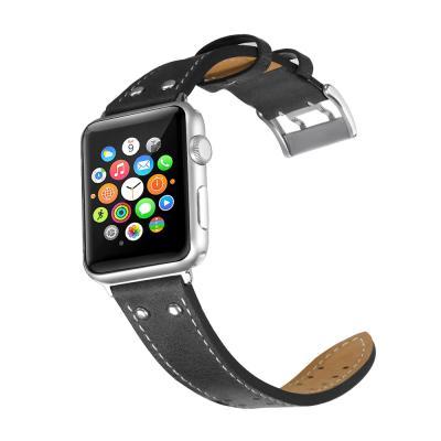 애플워치 밴드 1 2 3 4 5 스트랩 시계줄 가죽 스티치