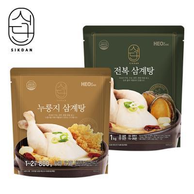 [허닭] 식단 삼계탕 혼합4팩 (전복2/누룽지2)