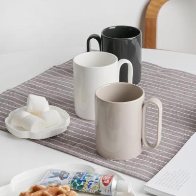 오벌핸드 도자기 머그컵 컵 1P 3color