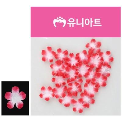 유니아트 싸리꽃 백색 빨강 조화꽃 장식 꾸미기재료