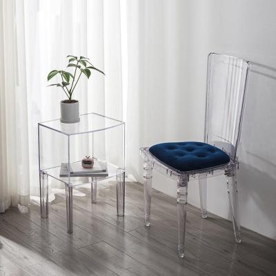 인테리어 투명 고스트 사이드 테이블 정리함