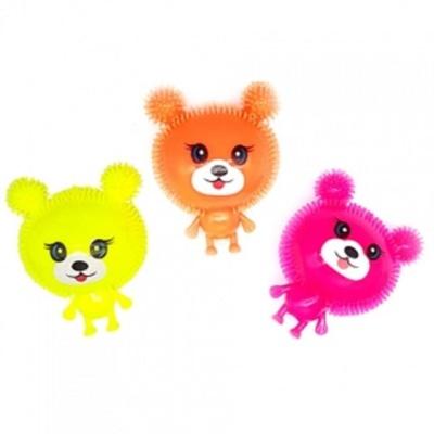 강아지 애착인형 형광베어 놀잇감 삑삑이 인형