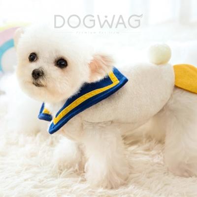 스쿨덕 티셔츠 조끼 강아지 겨울 옷 애견 의류