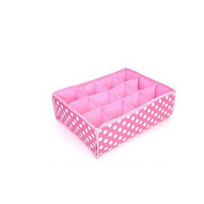 키친아트 속옷정리함 땡땡이 핑크(12칸)
