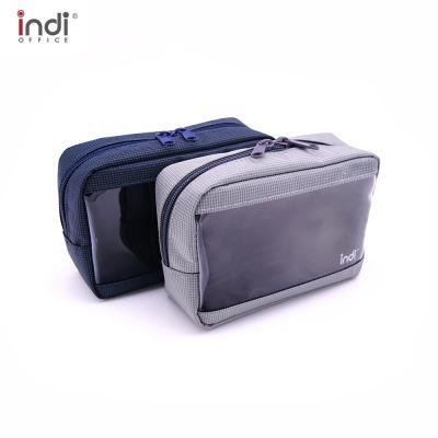인디 투명 사각 화장품 세면 약 파우치 여행보조가방